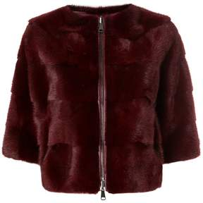 P.A.R.O.S.H. panelled fur jacket