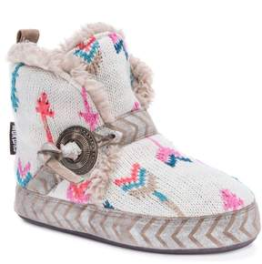 Muk Luks Women's Wendy Knit Arrows Boot Slippers