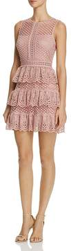 Aqua Lace Sleeveless Tiered Dress - 100% Exclusive