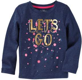 Osh Kosh Oshkosh Bgosh Girls 4-12 Let's Go Floral Graphic Tee