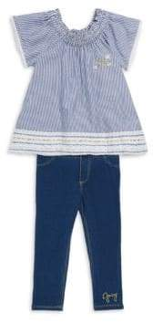 Juicy Couture Little Girl's Two-Piece Striped Top and Leggings Set