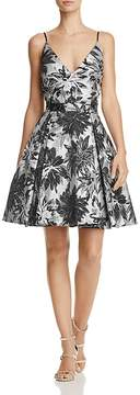 Aqua Jacquard Fit-and-Flare Dress - 100% Exclusive