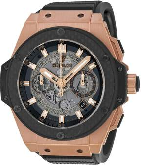 Hublot King Power Unico Black Dial Rose Gold Automatic Men's Watch