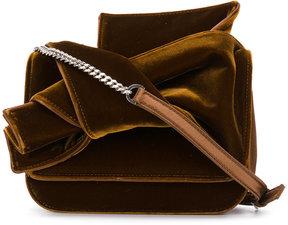 No21 front bow shoulder bag