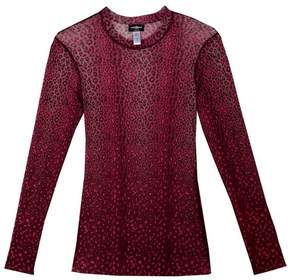 Cosabella | Moulin Mesh Long Sleeve Top | Xl | Animal print