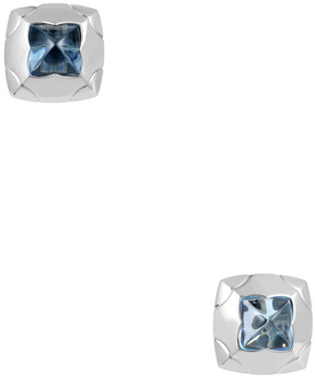 Bulgari Women's Piramide 18K White Gold & Topaz Earrings