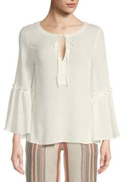 Ellen Tracy Ruffled Bell-Sleeve Blouse