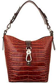 Dooney & Bourke Croco Embossed Shoulder Bag- Lily