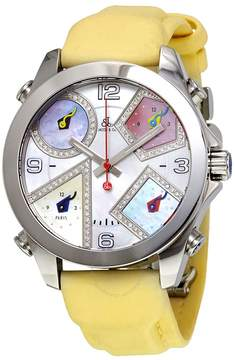 Jacob & co Jacob and Co Five Time Zone Multi-Color Mother of Pearl Diamond Men's Watch