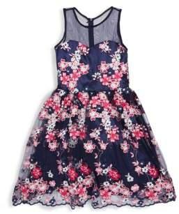 Un Deux Trois Girl's Floral Fit-&-Flare Dress
