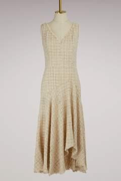 Alexander McQueen Asymmetrical Tweed Midi dress