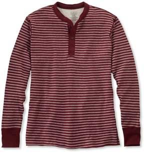 L.L. Bean L.L.Bean Two-Layer River Driver's Shirt, Traditional Fit Henley Stripe