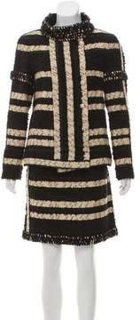 Chanel Striped Woven Skirt Suit