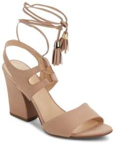 Saks Fifth Avenue Kaira Leather Ankle Strap Sandals