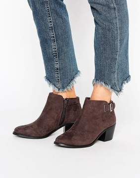 Head Over Heels Buckle Heel Boots