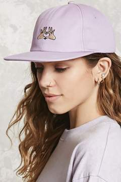 Forever 21 Hand Heart Graphic Baseball Cap