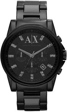Armani Exchange Black Mens Stainless Steel Chronograph Smart Watch