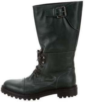 Belstaff Mid-Calf Combat Boots