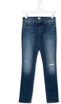 Emporio Armani Kids TEEN distressed jeans
