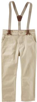 Osh Kosh Oshkosh Bgosh Toddler Boy Khaki Pants with Suspenders