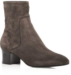 Aquatalia Women's Fortuna Weatherproof Suede Block Heel Booties - 100% Exclusive