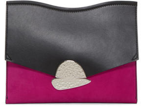 Proenza Schouler Pink and Black Medium Curl Clutch