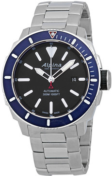 Alpina Seastrong Diver Automatic Black Dial Men's Watch