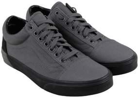 Vans Old Skool V Pewter Black Mens Lace Up Sneakers