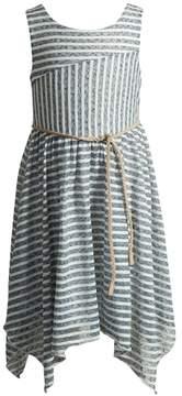 Youngland Girls 4-6x Stripe Handkerchief Hem Skirt Dress