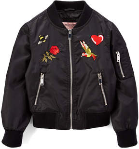 Urban Republic Black Patch Bomber Jacket - Infant