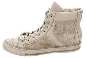 Belstaff Perforated High-Top Sneakers