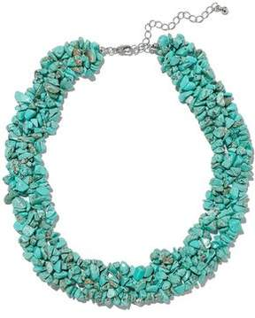 Kenneth Jay Lane Stone Silver-Tone Necklace