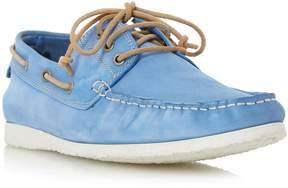 Dune London BELIZE - BLUE Lace Up Boat Shoe
