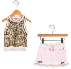 Roberto Cavalli Girls' Printed Mini Skirt Set