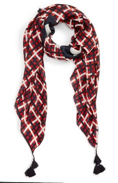 Tory Burch Women's Princess Plaid Wool Scarf