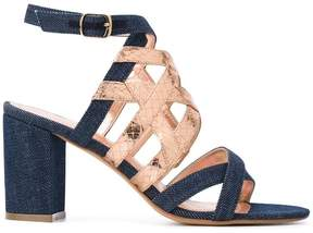 Jean-Michel Cazabat metallic strap denim sandals