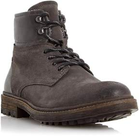 Dune London CANYON - GREY Leather Cuff Lace Up Boot