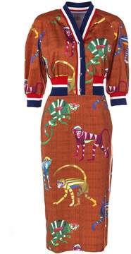 Stella Jean Monkey Print Dress