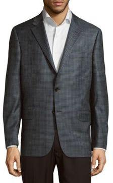 Hickey Freeman Milburn Plaid Wool Blazer