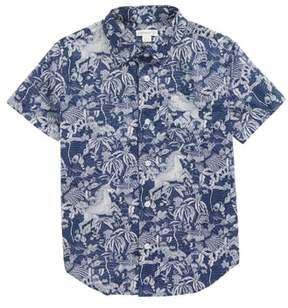 J.Crew crewcuts by Jungle Unicorn Print Woven Shirt