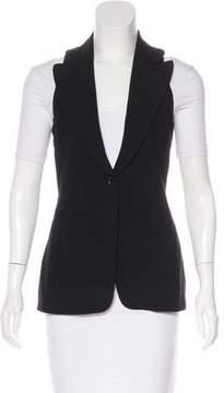 Barbara Bui Peak-Lapel Wool Vest