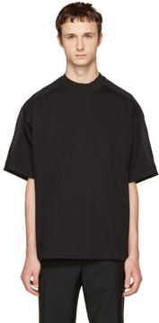 Oamc Black Mock Neck T-Shirt
