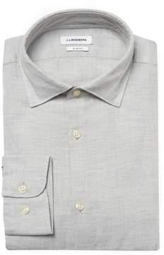 J. Lindeberg Men's Daniel CA Soft Check Slim Fit Sportshirt