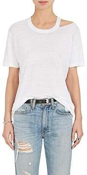 IRO Women's Bacau Ripped-Shoulder Linen T-Shirt