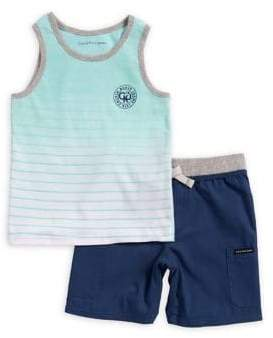 Calvin Klein Jeans Little Boy's Striped Tank and Short Set