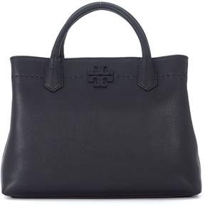 Tory Burch Mcgraw Black Lather Handbag - NERO - STYLE