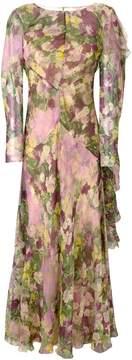 Alberta Ferretti floral print gown