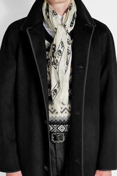 Alexander McQueen Skull Printed Silk Scarf