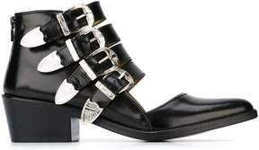 Toga cut-out buckle boots