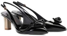 Salvatore Ferragamo Patent leather slingback pumps